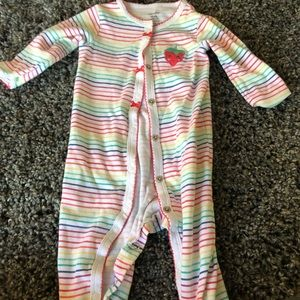 Baby girl rainbow strawberry onsie